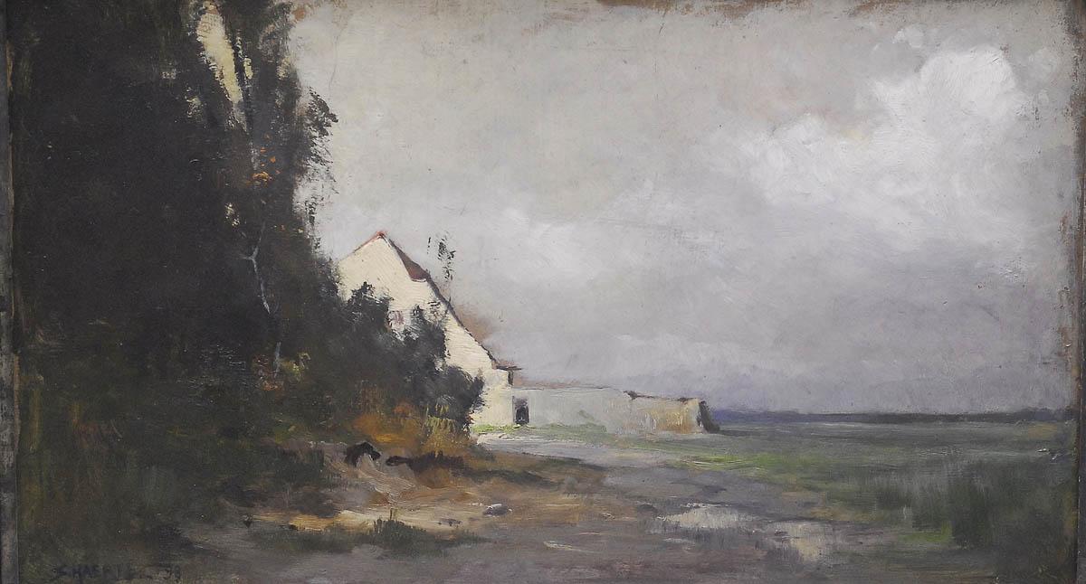 Pejzaż z fragmentem zabudowy, 1898