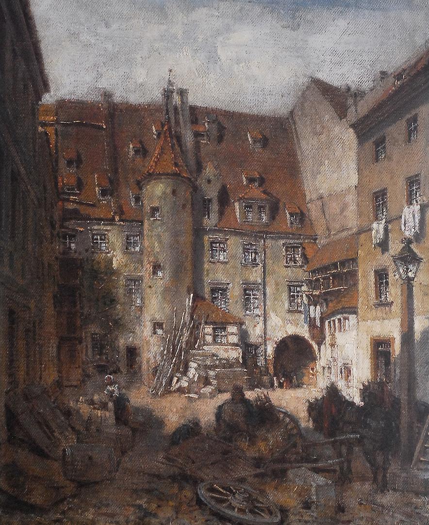 Podwórze dawnego zajazdu we Wrocławiu
