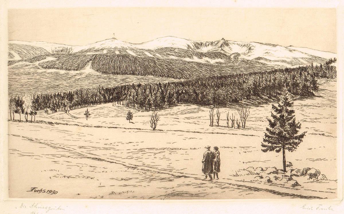 Widok na Śnieżne Kotły, 1930