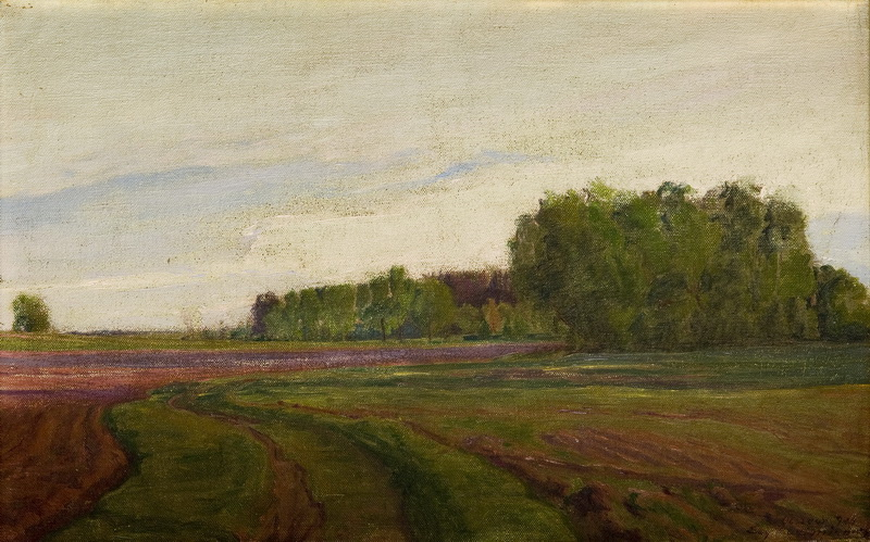 Pejzaż wiosenny z Olszewa, 1914 r.