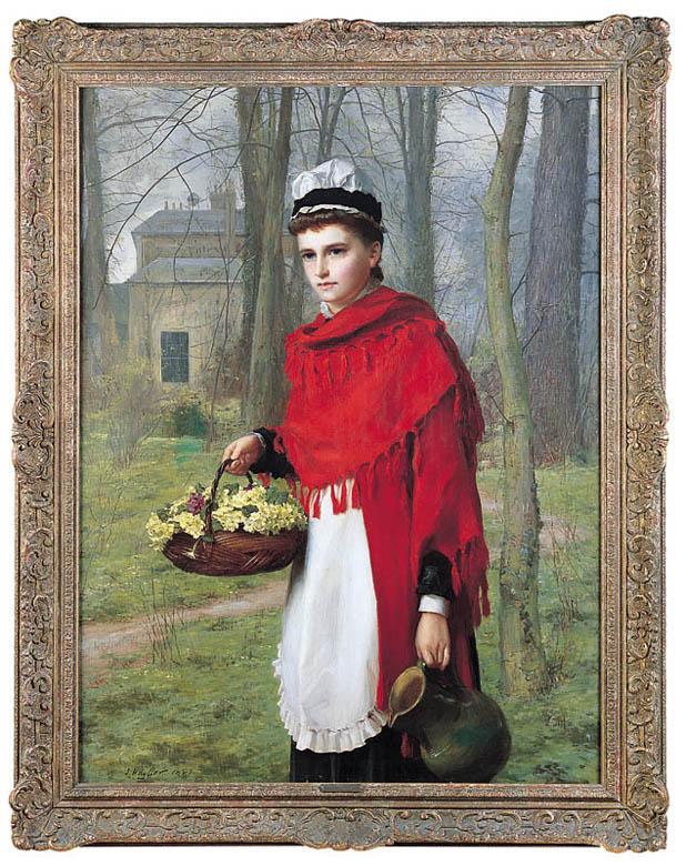 WIOSNA W OGRODZIE, 1881