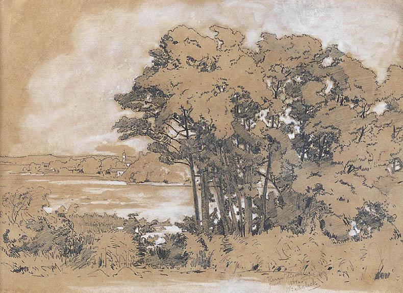 PEJZAŻ ZNAD CHIEMSEE, 1868