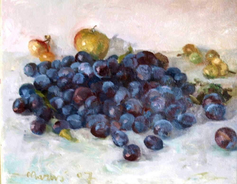 Węgierki - Martwa natura ze śliwkami i jabłkami, 2007