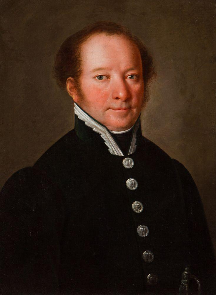 PORTRET MĘŻCZYZNY W ZIELONYM MUNDURZE, ok. 1830