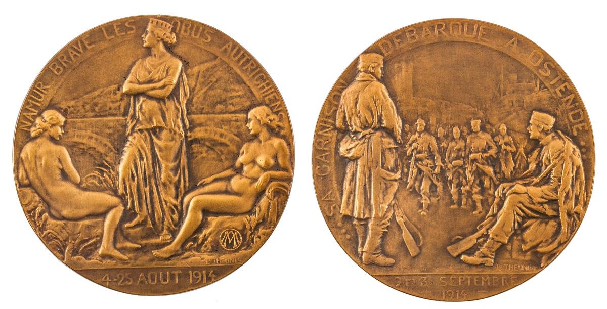 MEDAL, OBRONA NAMUR 1914