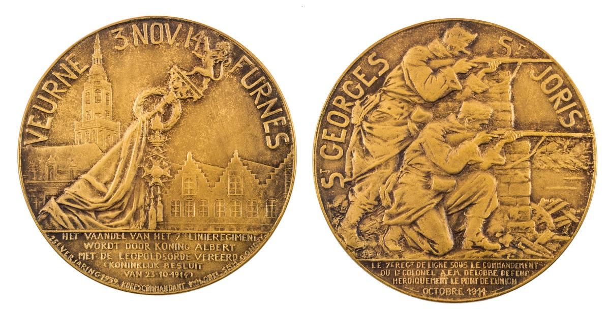MEDAL, 25 ROCZNICA PRZYZNANIA 7. PUŁKOWI ORDERU LEOPOLDA, 1939