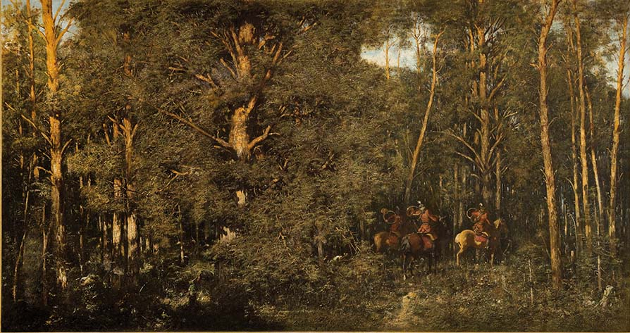 Wyjazd na polowanie, 1882 r.