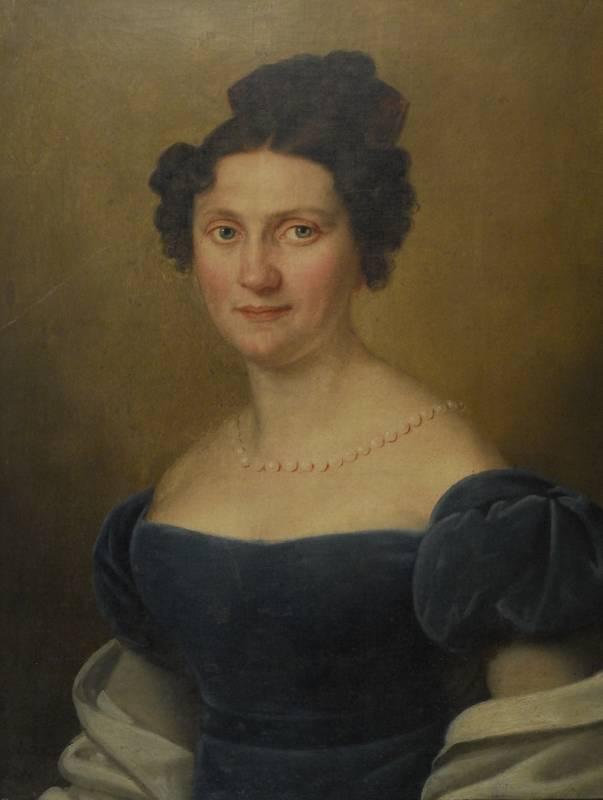 Portret damy w błękitnej sukni, 1824