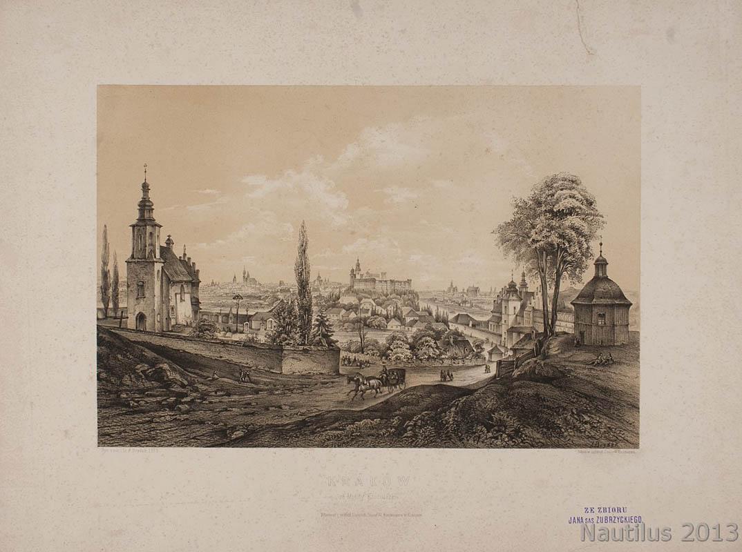 Kraków. Widok od Mogiły Kościuszki, 1863