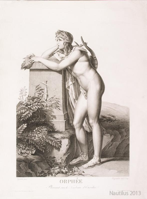 Orphee [Orfeusz przy grobie Eurydyki], przed 1810