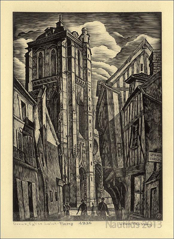 Dreux. Eglise Saint-Pierre, 1936