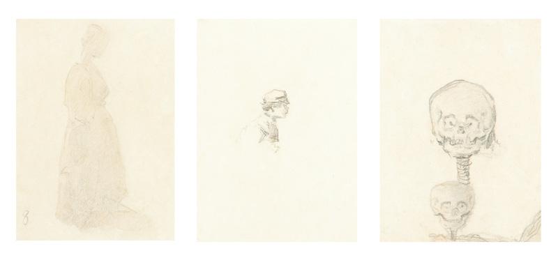 3 studia rysunkowe współoprawne