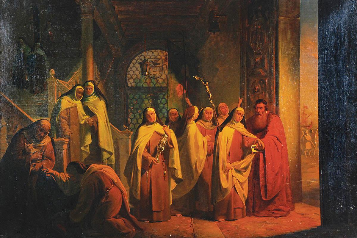 Scena klasztorna, 1853