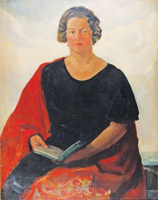 Portret kobiety z książką, ok. 1930
