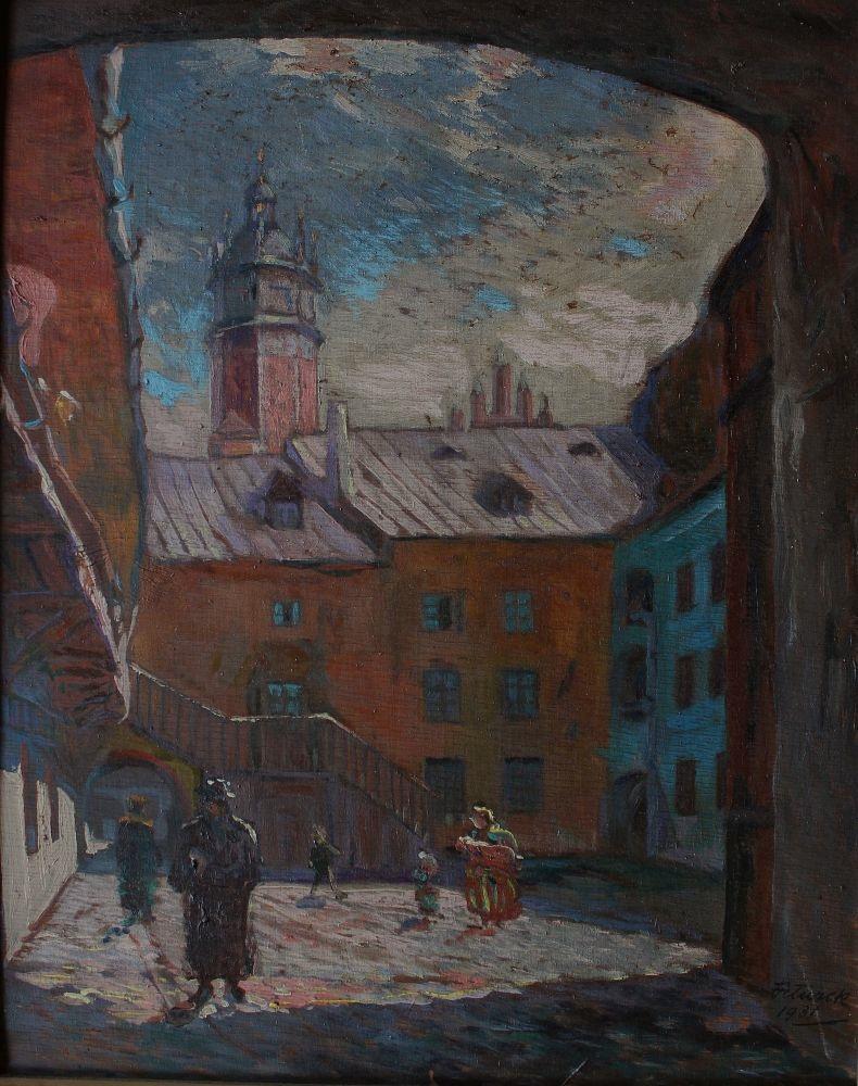 Podwórko na krakowskim Kazimierzu (1931)