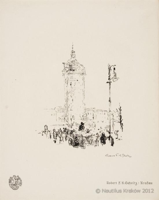 1. Krakau [Wieża ratuszowa], 2. Die Tuchhalle in Krakau [Sukiennice], 1915