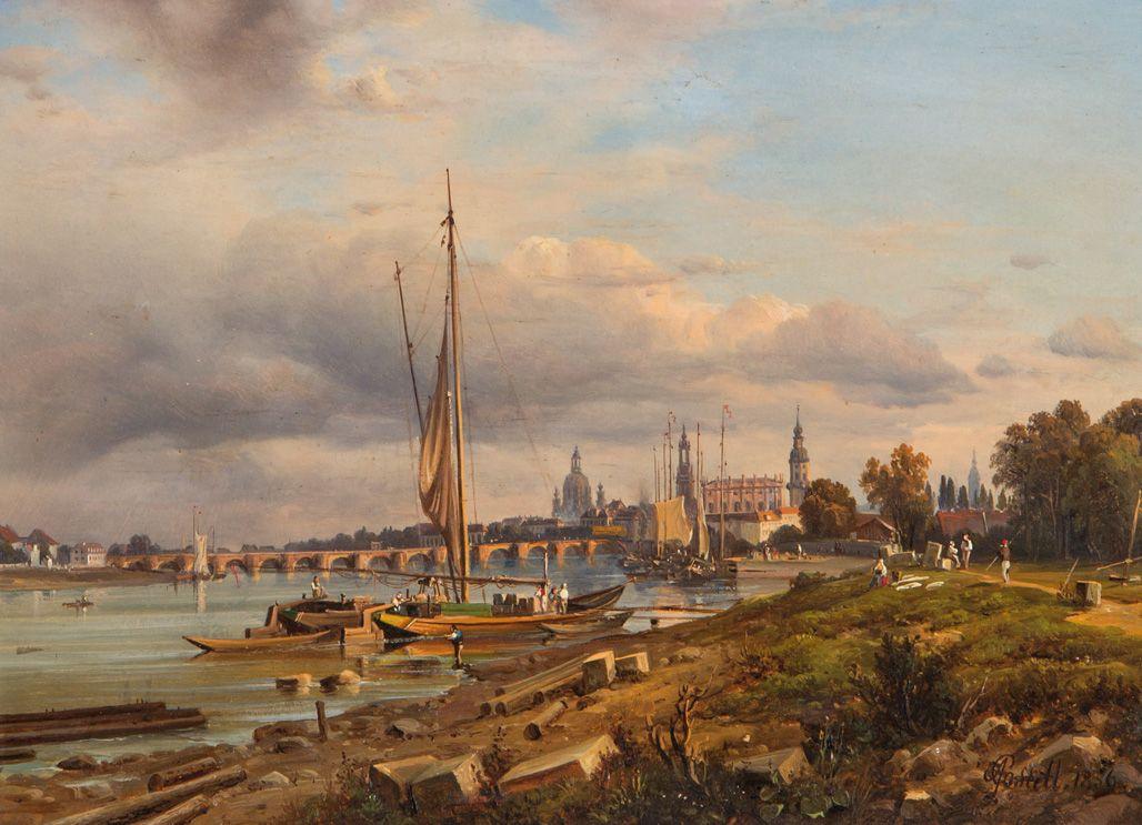 WIDOK DREZNA, 1856