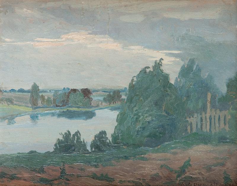 Pejzaż z wodą, 1922 r.