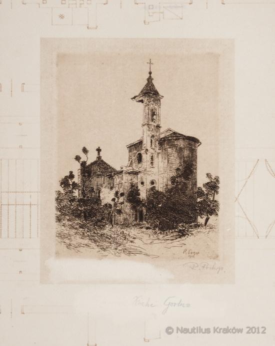 Ruiny kościoła w Gorlicach, 1916