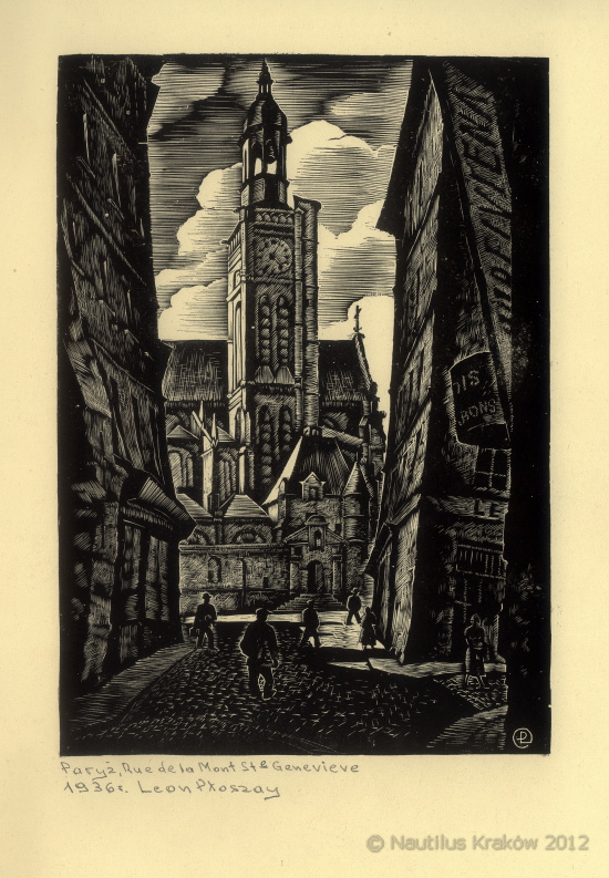 Paryż. Rue de la Mont St. Genevieve, 1936