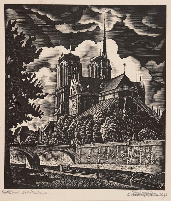 Paryż. Notre Dame, 1937