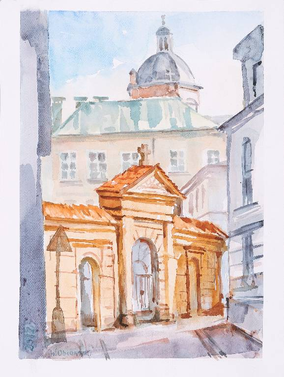 Widok z ulicy Poselskiej w Krakowie, 2012 r.