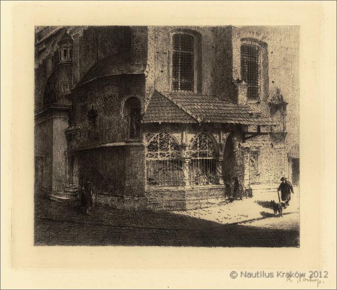 Kraków. Ogrojec przy kościele św. Barbary, ok. 1916