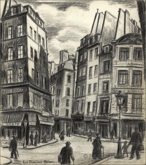 Paryż. Rue François-Miron, [1935-1937]