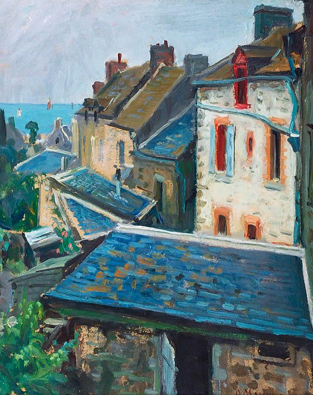 Dachy domów w Saint-Malo, ok. 1923