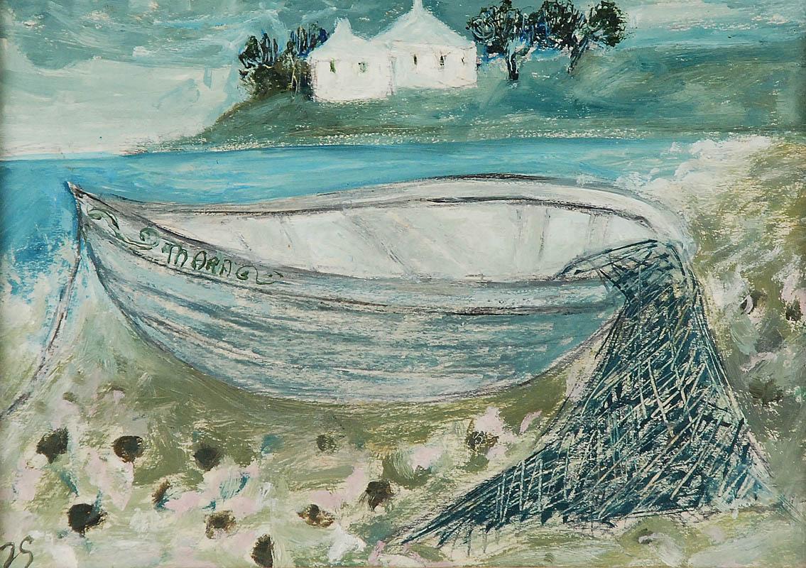 Pejzaż z łodzią