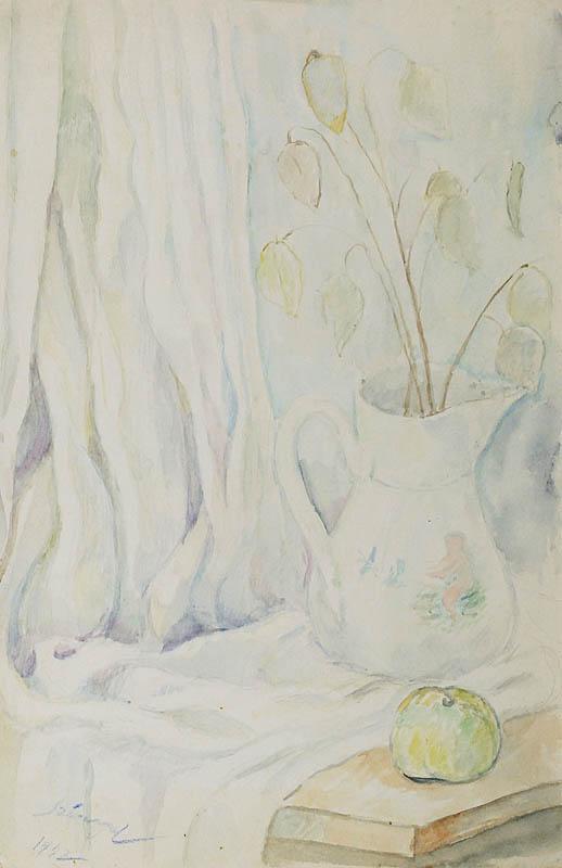 Martwa natura z dzbanem i jabłkiem, 1942