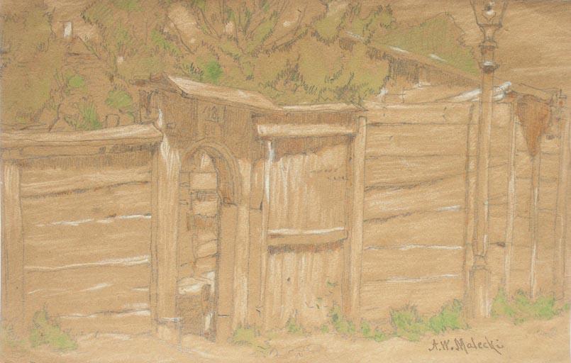 Ogrodzenie z bramą