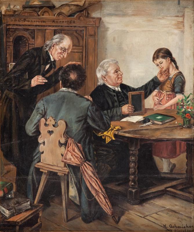 W szkółce niedzielnej, 1871 r.
