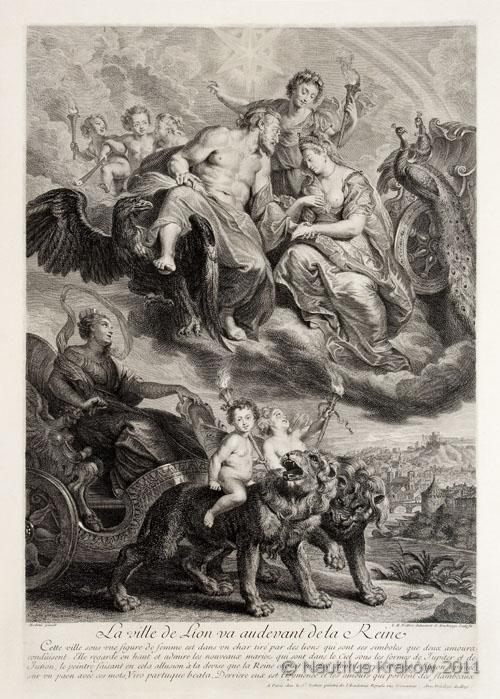 La Ville de Lion va audevant de la Reine, 1710