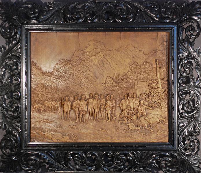 Cesarz Franz Josef z grupą myśliwych. Scena po polowaniu, 1876
