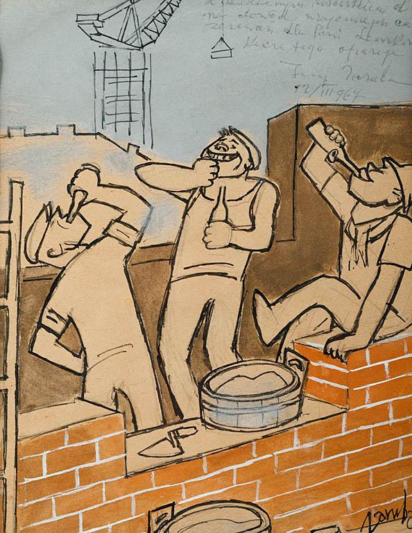 Zaprawa murarska, przed 1967