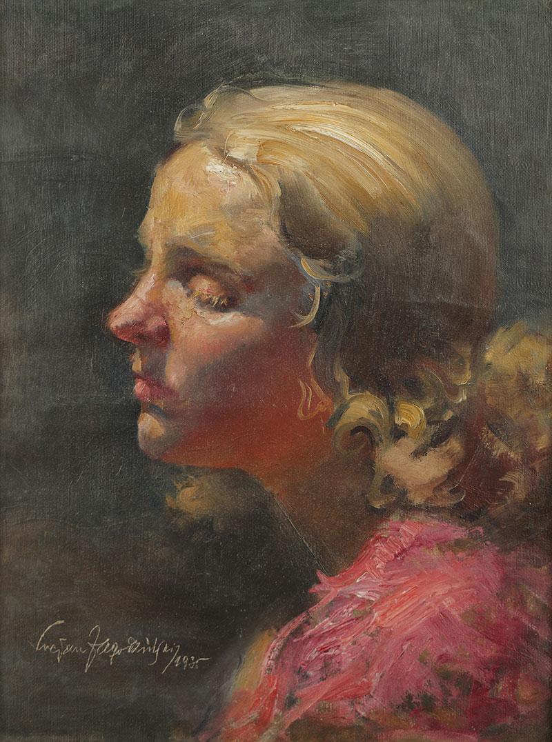 Portret blondynki, 1935 r.