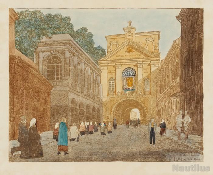 Ostra Brama w Wilnie, 1916