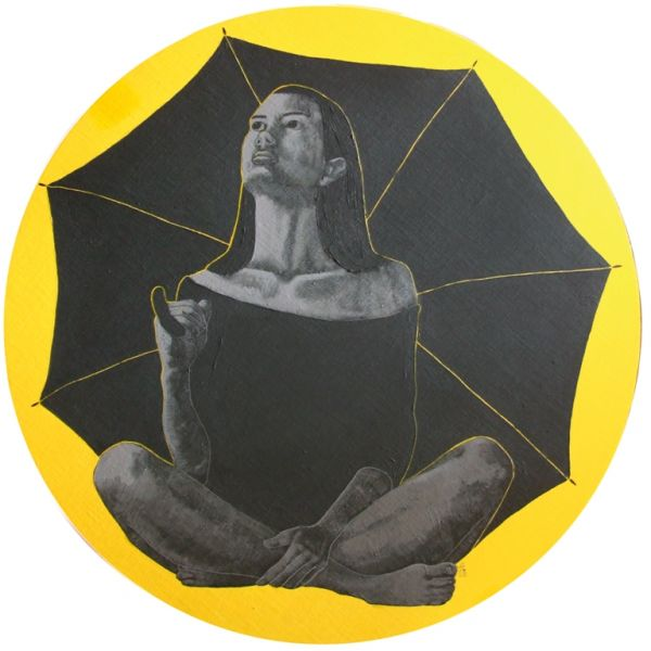 Pod parasolem w słońcu
