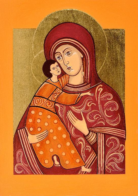 Ikona napisana na podstawie Matki Boskiej Włodzimierskiej