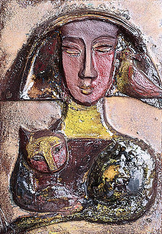 Kobieta z kotem
