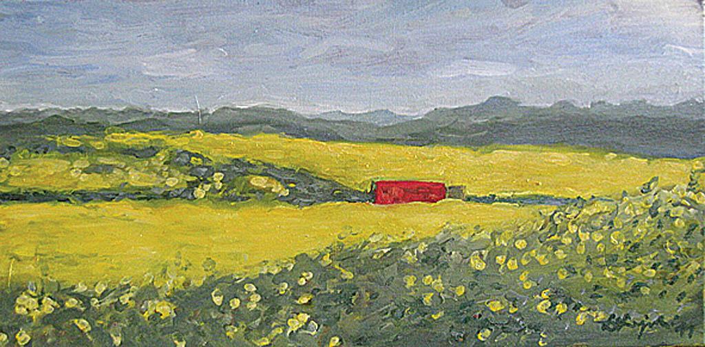 Pejzaż z czerwonym, 2011r.