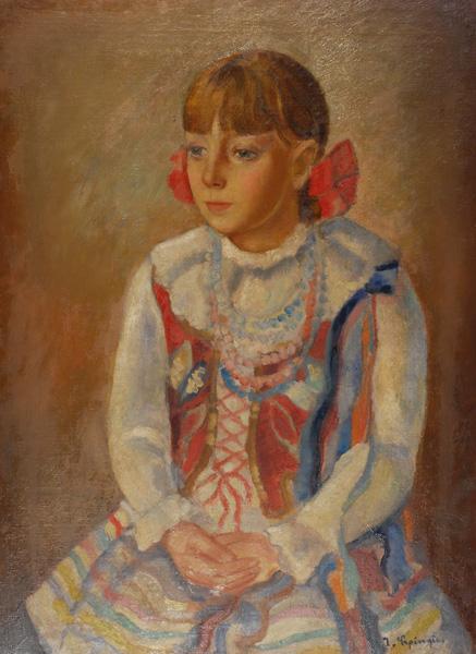 Portret dziewczynki w stroju krakowskim