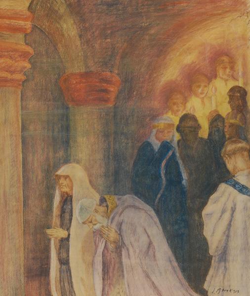 W cerkwi, 1913