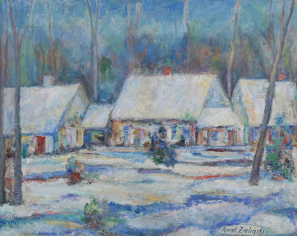 Pejzaż zimowy, 1977