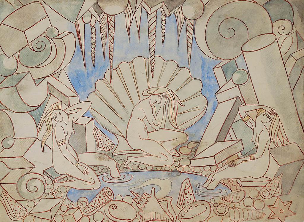 Alegoria, ok. 1920