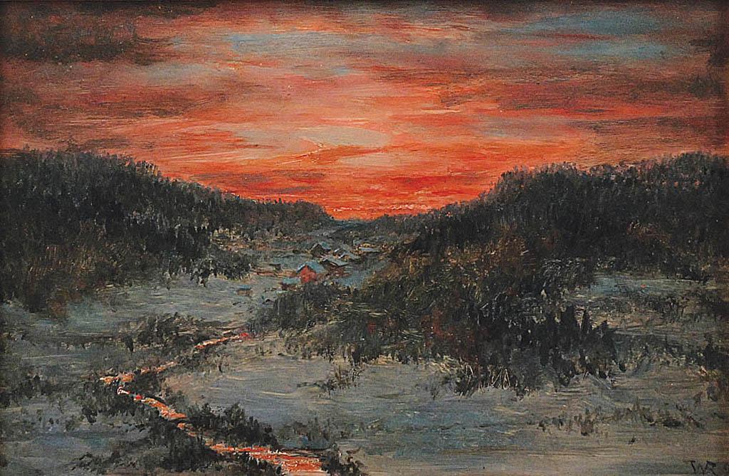 Zachód słońca nad doliną, 1897