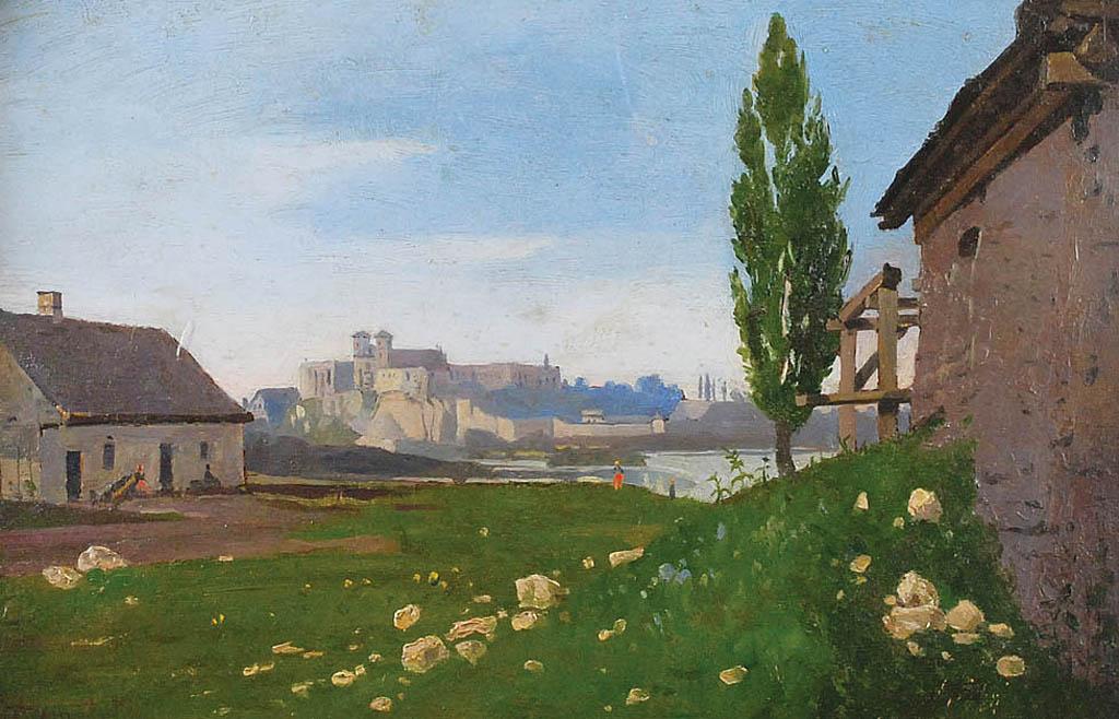 Widok na klasztor benedyktynów w Tyńcu