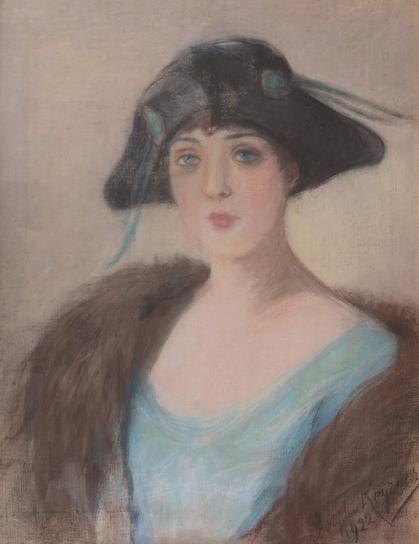 Portret kobiety w czarnym kapeluszu, 1922