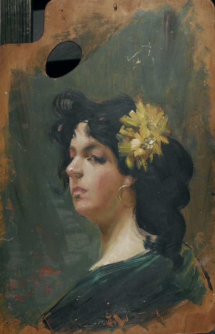 Dziewczyna z kwiatem we włosach, 1897